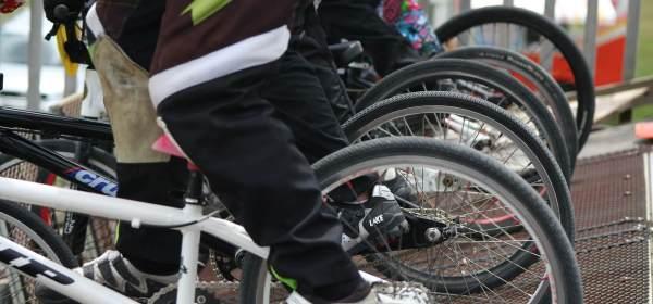 Bicicletas bmx início competição