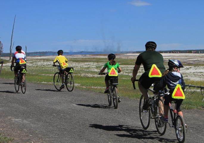 Iluminação sinalização bike bicicletas estrada